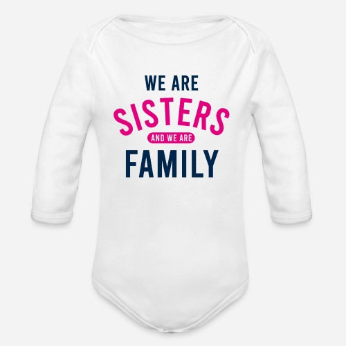 OmaAdele - We are sisters - Baby Bio-Langarm-Body