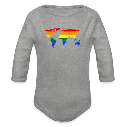 HBTQ WORLD - Ekologisk långärmad babybody