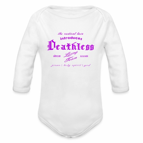 deathless living team violet - Baby Bio-Langarm-Body