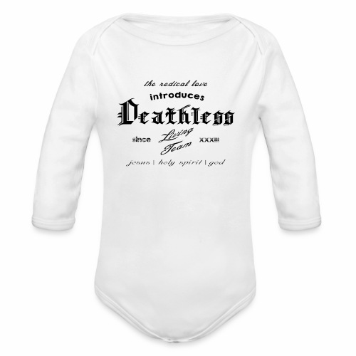 deathless living team schwarz - Baby Bio-Langarm-Body
