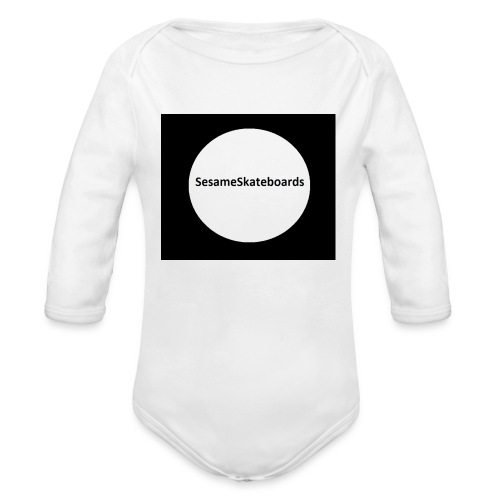 team hat - Organic Longsleeve Baby Bodysuit