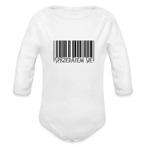 sprzedałem się - Ekologiczne body niemowlęce z długim rękawem