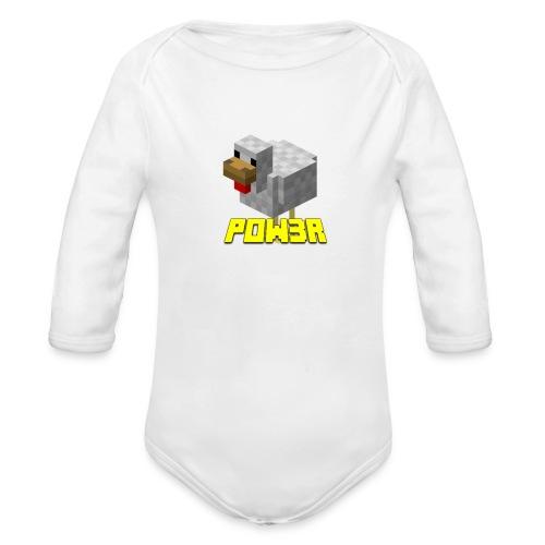 POw3r sportivo - Body ecologico per neonato a manica lunga