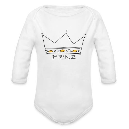 Krone Prinz - Baby Bio-Langarm-Body