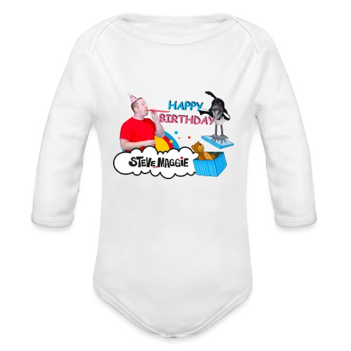 Happy Birthday from Steve and Maggie - Organic Longsleeve Baby Bodysuit