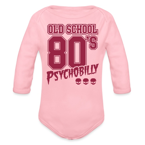 old school jacket psycho - Body orgánico de manga larga para bebé