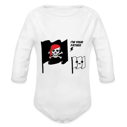 i'm your father flag - Body ecologico per neonato a manica lunga