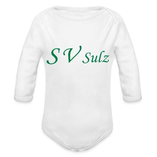 svs schrift 2 - Baby Bio-Langarm-Body