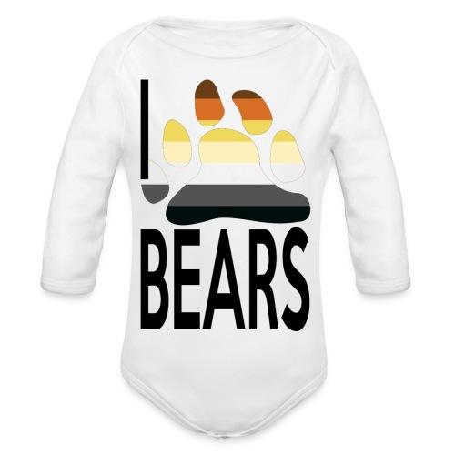 I love bears - Body Bébé bio manches longues