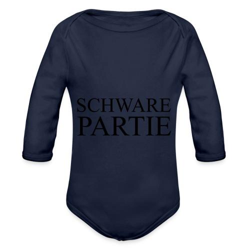 schwarePartie png - Baby Bio-Langarm-Body