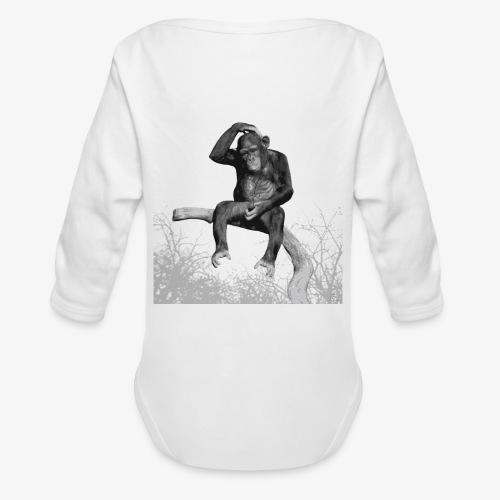 Monkey Music - Organic Longsleeve Baby Bodysuit