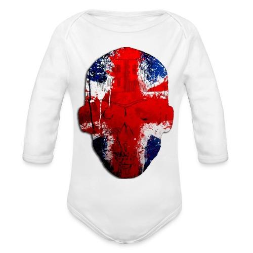 Borg recordings uk Union flag MetaSkull T Shirt - Organic Longsleeve Baby Bodysuit