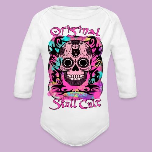 ORIGINAL SKULL CULT PINK - Baby Bio-Langarm-Body