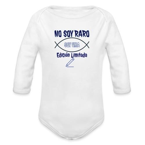 Edicion limitada - Body orgánico de manga larga para bebé