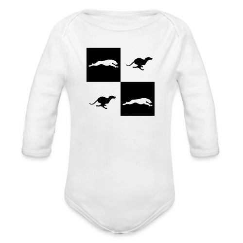 whippetsquares2 png - Organic Longsleeve Baby Bodysuit