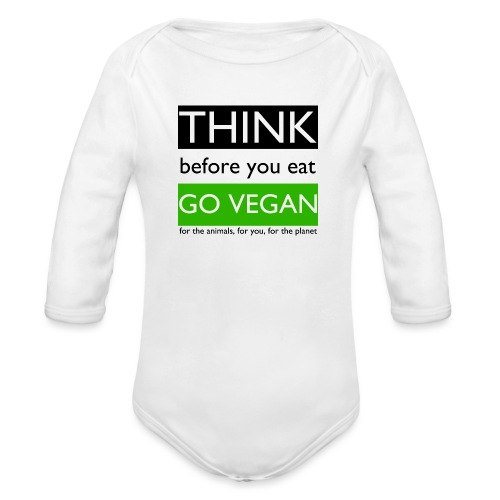 go vegan - Body ecologico per neonato a manica lunga