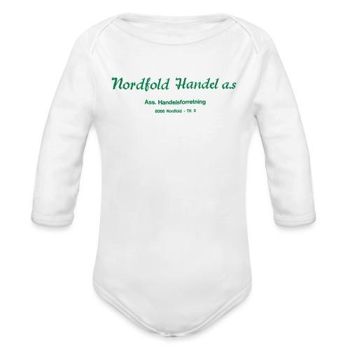 NH Logo horisontal - Økologisk langermet baby-body