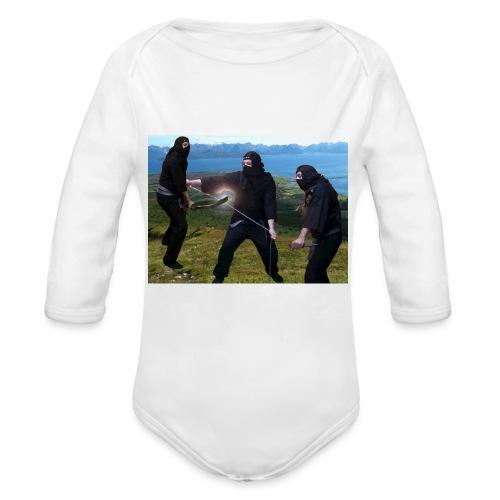 Chasvag ninja - Økologisk langermet baby-body