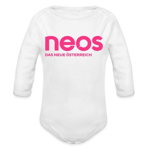 neos logo final pink - Baby Bio-Langarm-Body