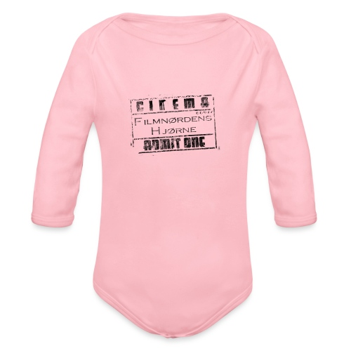 Stort slidt logo - Langærmet babybody, økologisk bomuld