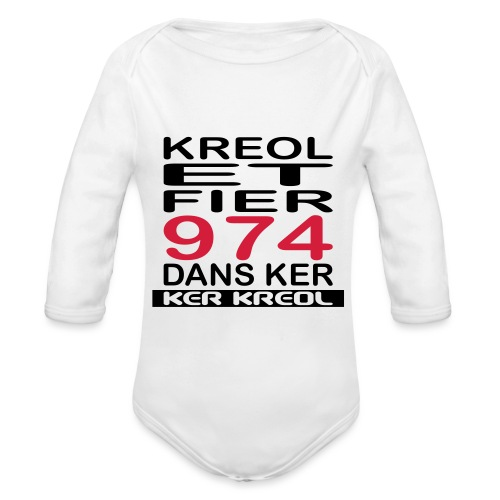 Kreol et Fier dans Ker - Body Bébé bio manches longues