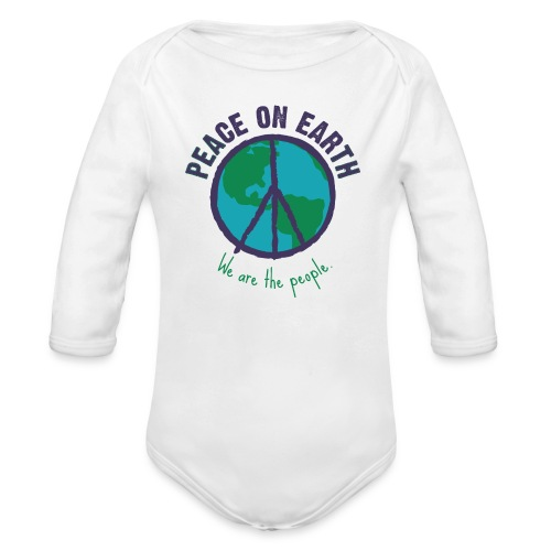 peace purple png - Baby Bio-Langarm-Body