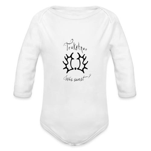trakehnerwas sonstrappe - Baby Bio-Langarm-Body