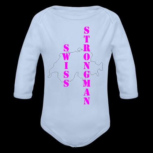 Swiss FSA T Shirt Swiss Strongman 1 - Baby Bio-Langarm-Body