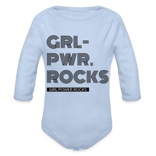Baby Girl Power - Baby Bio-Langarm-Body