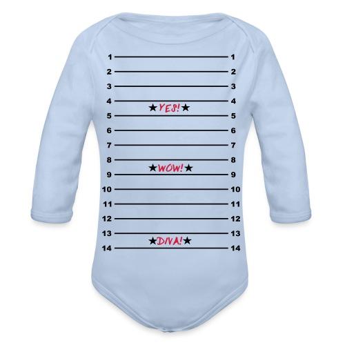 Yes Wow Diva Length Check T-Shirt - Organic Longsleeve Baby Bodysuit