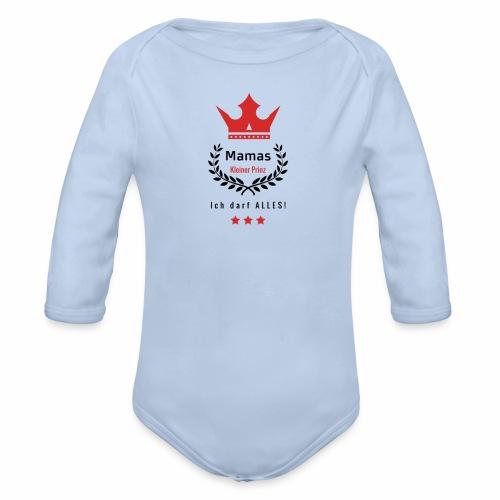 Mamas kleiner Prinz-s - Baby Bio-Langarm-Body