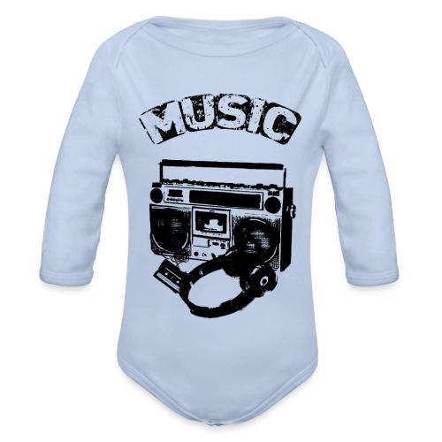 musik1 - Langærmet babybody, økologisk bomuld