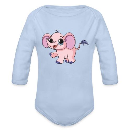 Cute elephant - Organic Longsleeve Baby Bodysuit