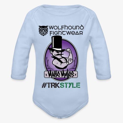 myles front 0518 - Organic Longsleeve Baby Bodysuit
