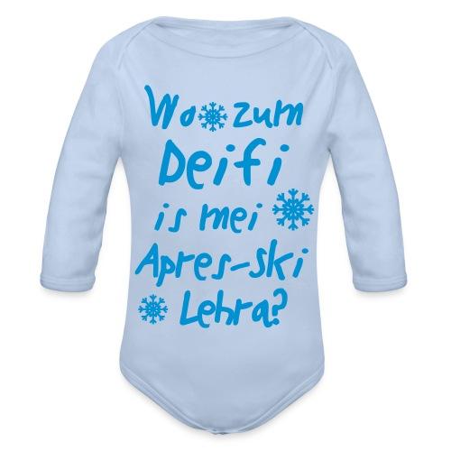 Wintershirt Wo zum Deifi is mei ApresSki Lehra? - Baby Bio-Langarm-Body