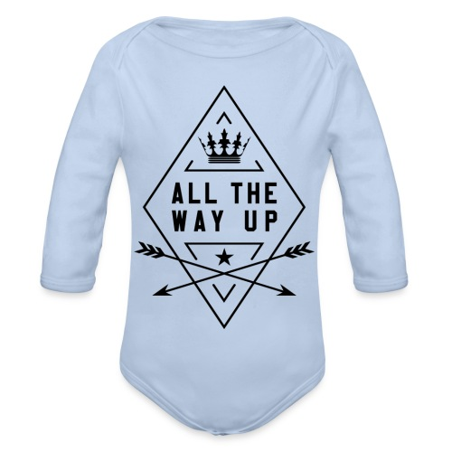 atwu_black - Organic Longsleeve Baby Bodysuit