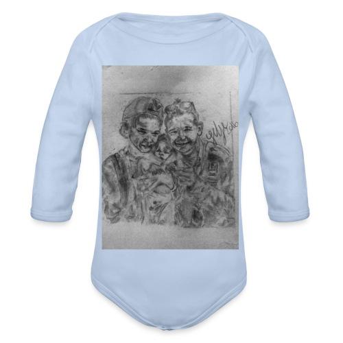 MMbaby cover. - Langærmet babybody, økologisk bomuld