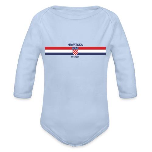 HRVATSKA FLAG EST.1991 - Organic Longsleeve Baby Bodysuit