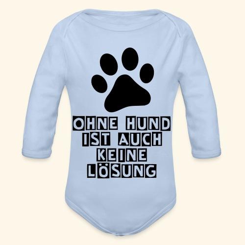 Das Shirt für Hundefreunde - Baby Bio-Langarm-Body