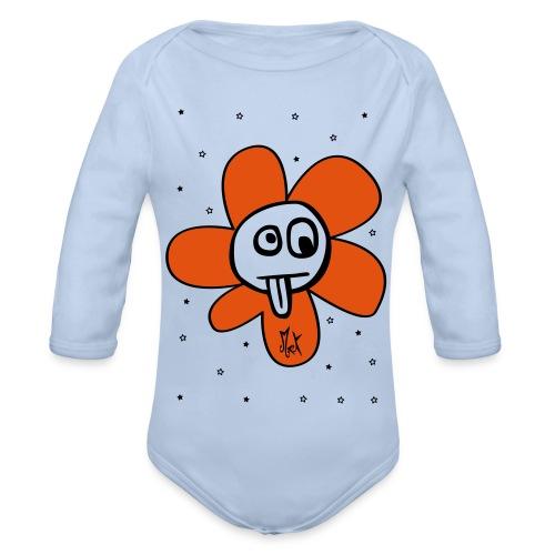 Little Flower McKoy Con Relleno - Body orgánico de manga larga para bebé