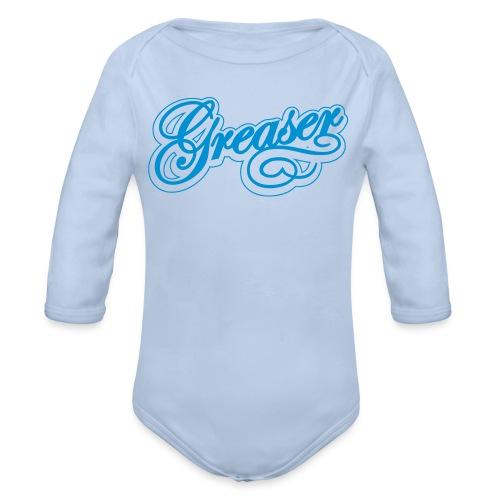 letras greaser convertido - Body orgánico de manga larga para bebé
