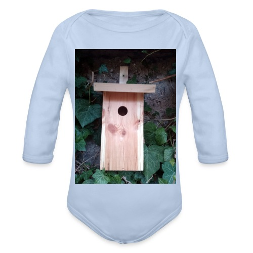 Der Nistkasten - Luxus für den Garten-Vogel - Baby Bio-Langarm-Body
