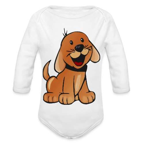 cartoon dog - Body ecologico per neonato a manica lunga