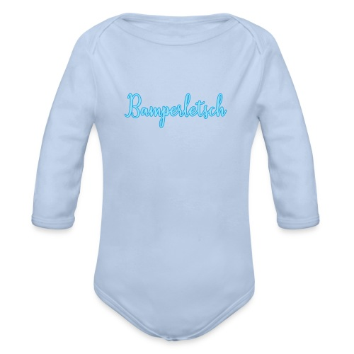 Bamperletsch in Blau - Baby Bio-Langarm-Body