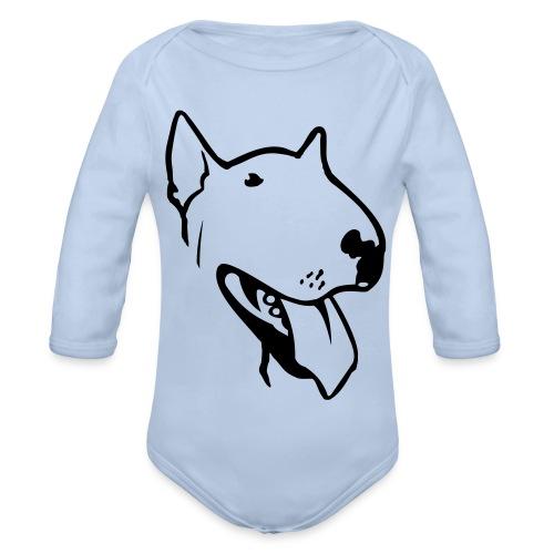 bull terrier2 - Organic Longsleeve Baby Bodysuit
