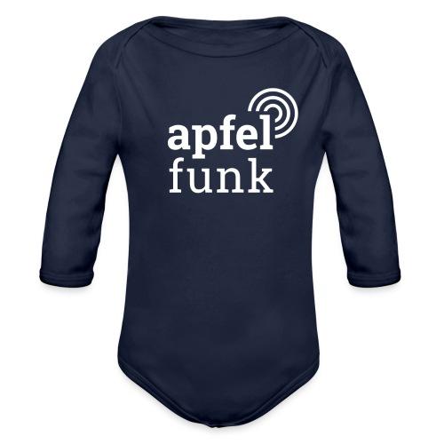 Apfelfunk Dark Edition - Baby Bio-Langarm-Body