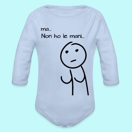 ma-non-ho-le-mani - Body ecologico per neonato a manica lunga