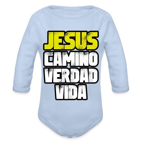 Jesus Camino Verdad Vida - Juan 14:6 - Body orgánico de manga larga para bebé
