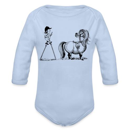 Thelwell - Penelope wirh stilts - Organic Longsleeve Baby Bodysuit