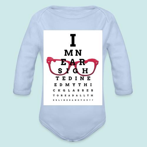 Eyechart Glasses Lunettes - Body bébé bio manches longues